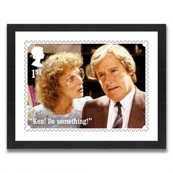 Coronation Street Enlarged Print - Ken and Deirdre