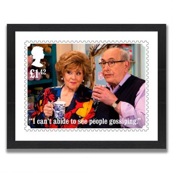 Coronation Street Enlarged Print: Rita and Norris