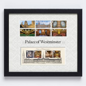 Palace of Westminster Framed Stamps and Miniature Sheet
