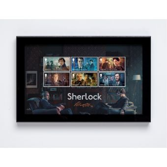 Sherlock Framed Stamps signed by Mark Gatiss