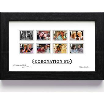 Coronation Street Framed Stamps signed by William Roache