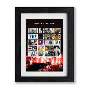 Paul McCartney Framed Collector's Sheet