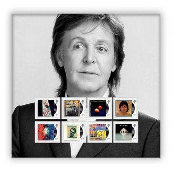 Paul McCartney Stamp Set Mount