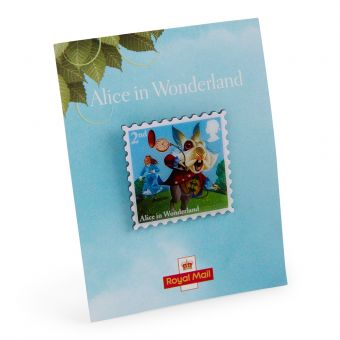 Nb157 Royal Mail Alices Adventures In Wonderland Pin The White Rabbit 01
