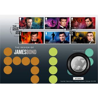James Bond Stamps Silver Proof Coin Cover