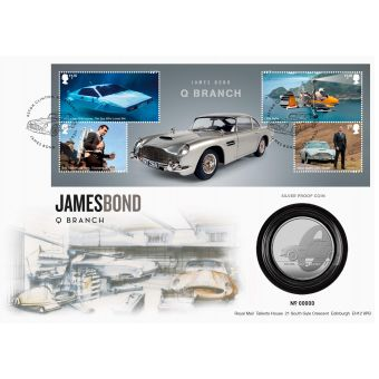 James Bond Q Branch Silver Proof Coin Cover