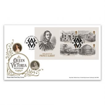 Queen Victoria Bicentenary First Day Cover Minisheet with East Cowes Postmark