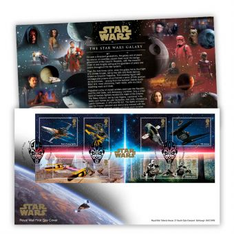 STAR WARS™ 2019 Miniature Sheet First Day Cover (Maulden, Bedford)
