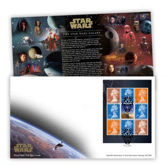 STAR WARS™ 2019 Prestige Stamp Book Pane First Day Cover (Maulden, Bedford)