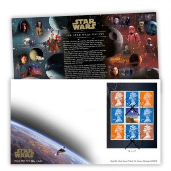 STAR WARS™ 2019 Prestige Stamp Book Pane First Day Cover (Tallents House)