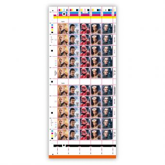 Full sheet of 50 x 1st Class Stamps Count Dooku