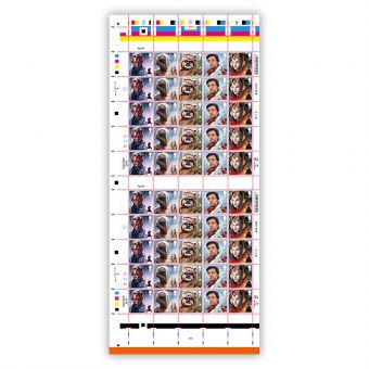 Full sheet of 50 x 1st Class Stamps Darth Maul