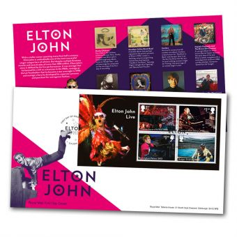 Elton John Miniature Sheet First Day Cover
