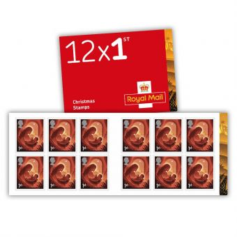 Royal Mail Christmas 2019  12x 1st Class Stamp Book Pack of 50  Front Open