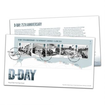 D-Day 75th Anniversary Miniature Sheet First Day Cover with Tallents House Postmark