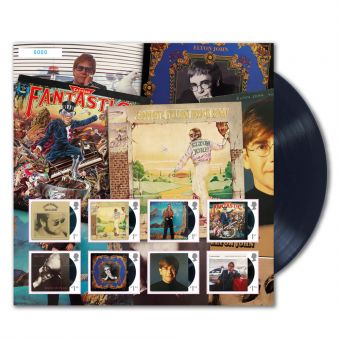 Elton John Album Collection Fan Sheet
