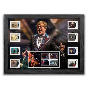 Elton John Framed Stamps & Miniature Sheet