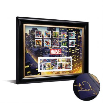MARVEL Framed Stamps & Minisheet signed by Alan Davis - Limited Edition (only 200 worldwide)