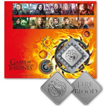 Royal Mail Game of Thrones Medal Cover Stamps 1