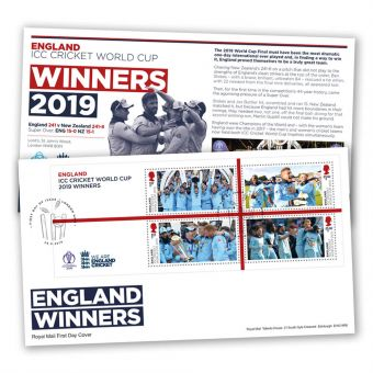 Cricket First Day Cover – Men's Win Minisheet