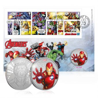 Royal Mail MARVEL Avengers Brilliant Uncirculated Medal Cover