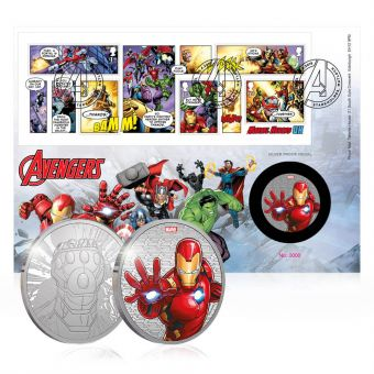 Royal Mail MARVEL Avengers Silver Medal Cover