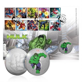 MARVEL Hulk Limited Edition Medal Cover