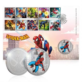 MARVEL Spider-Man Limited Edition Medal Cover
