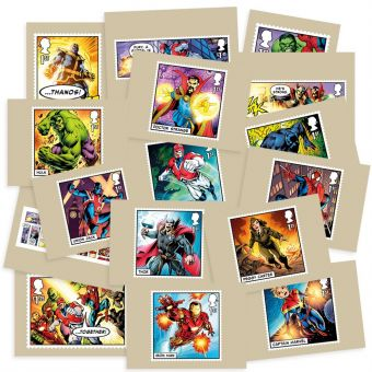 MARVEL Stamp cards