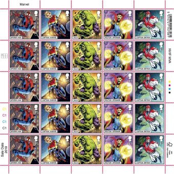 MARVEL Half Stamp Sheet Spider-man