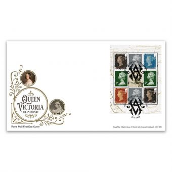 Queen Victoria Bicentenary First Day Cover PSB with East Cowes Postmark