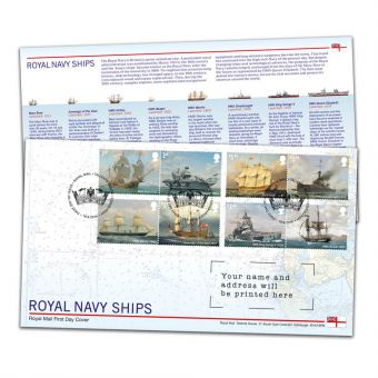 Royal Navy Ships Special Stamps First Day Cover