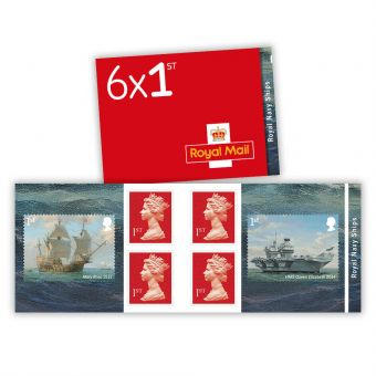 Royal Navy Ships retail stamp book