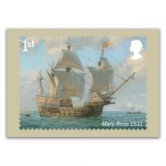 Royal Navy Ships set of eight postcards, Mary Rose 1511
