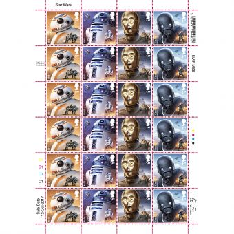 STAR WARS Droids  Half Stamp Sheet