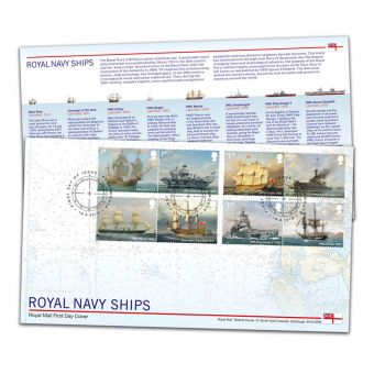 Royal Navy Ships Stamp Souvenir