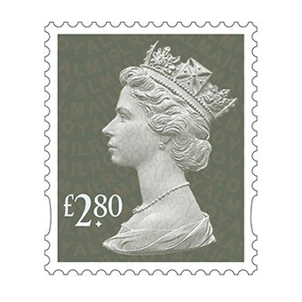 Definitives 2019 Machin Mint Stamp Spruce Green £2.80