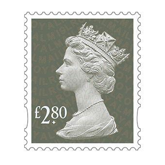 Definitives 2019 Machin Mint Stamp Spruce Green £2.80