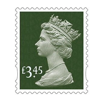 Definitives 2019 Machin Mint Stamp Dark Pine Green £3.45