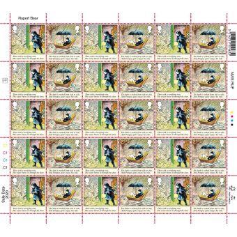 Rupert Bear Half Sheet 2nd Class x 30