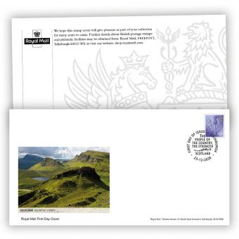 2021 Country Definitive First Day Cover - Scotland with Edinburgh Postmark