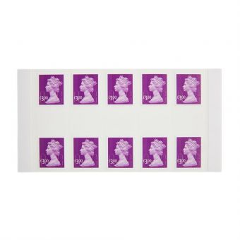 25 X £3.00 Self Adhesive Stamp Sheet