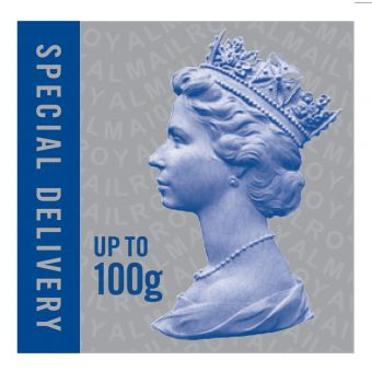 Special Delivery Stamp up to 100g printed by Walsall