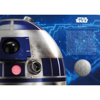 Royal Mail STAR WARS Medal Cover R2 D2 1
