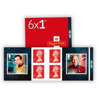 Star Trek 6 x 1st Stamp Book