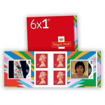Paul McCartney 6 x 1st Class Stamp Book