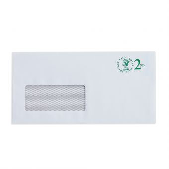 V4 100 X 2nd Class Dl Window Envelope Max 100G 2