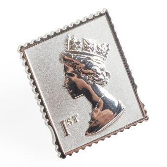Vb001 Royal Mail Silver Plated Lapel Pin Badge 1