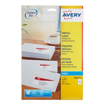 Vow_J8163M Avery Inkjet Address Labels J8163 25 Pack Of 25 1