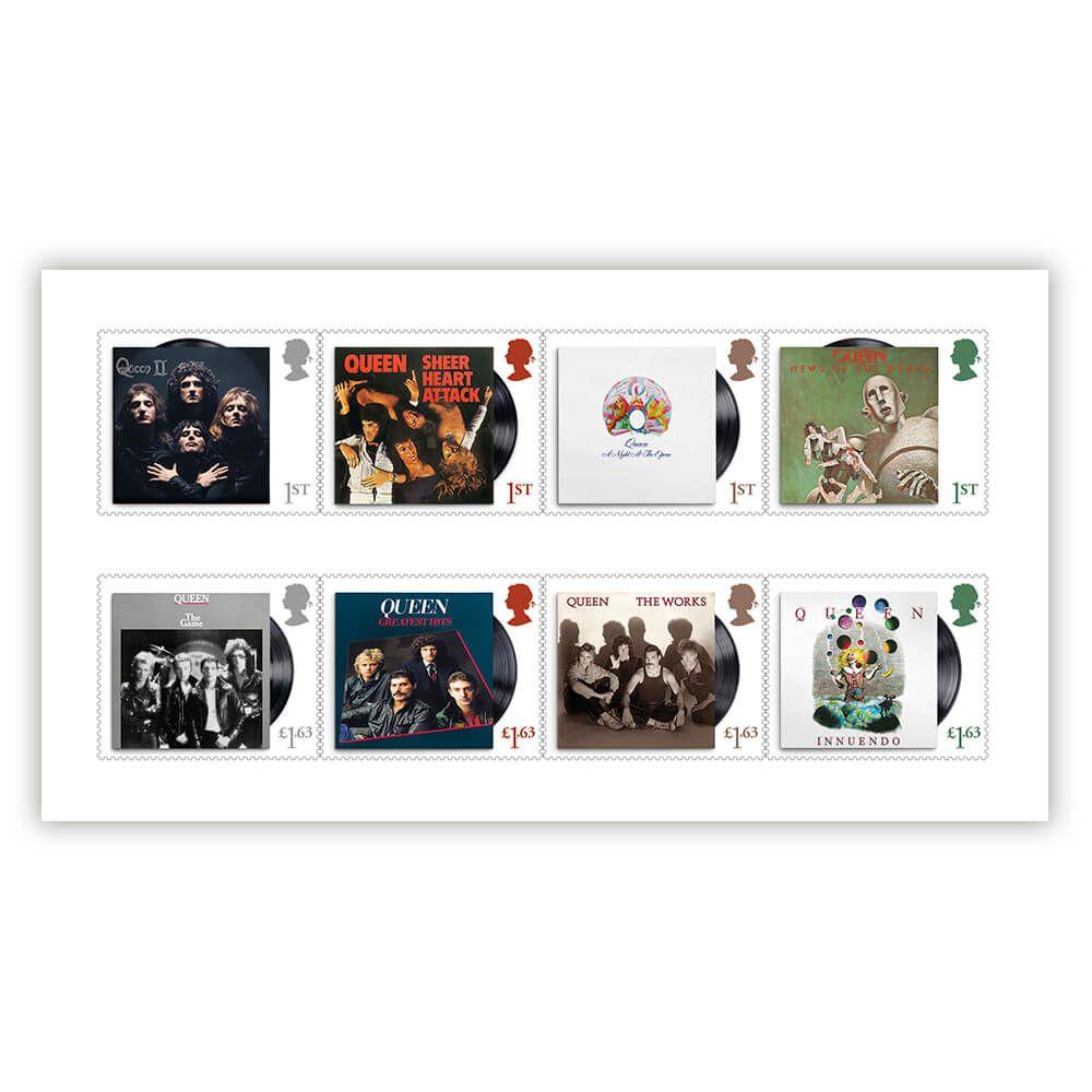 英国7月9日发行皇后乐队邮票